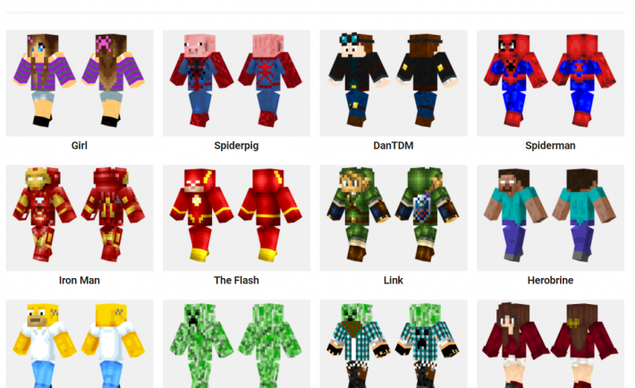 minecraft skins free download ps4