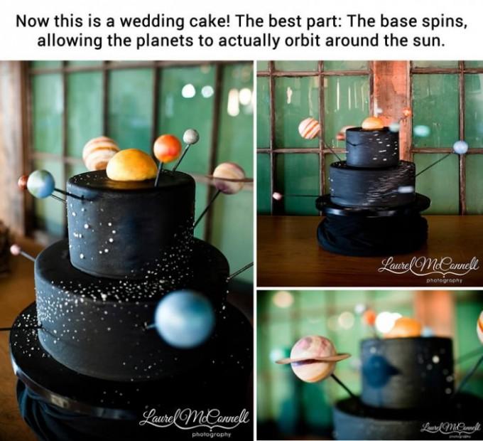 Astronomy Solar System Wedding Cake Geek Science Wedding Themes