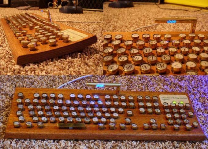 Classic steampunk keyboard geek diy gadgets to build for Cool diy gadgets