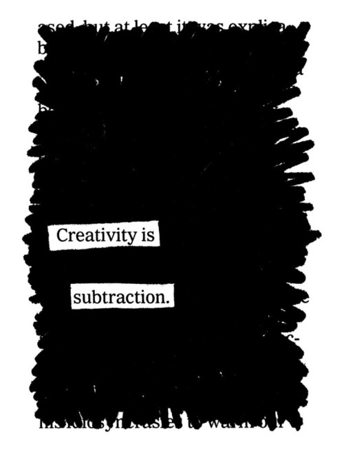creativityissubtraction