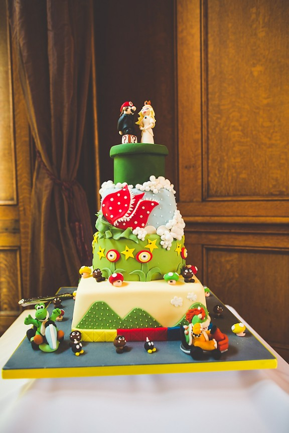 Geek Chic Wedding Super Mario Cake