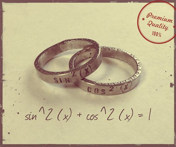 math - Gamer Wedding Rings