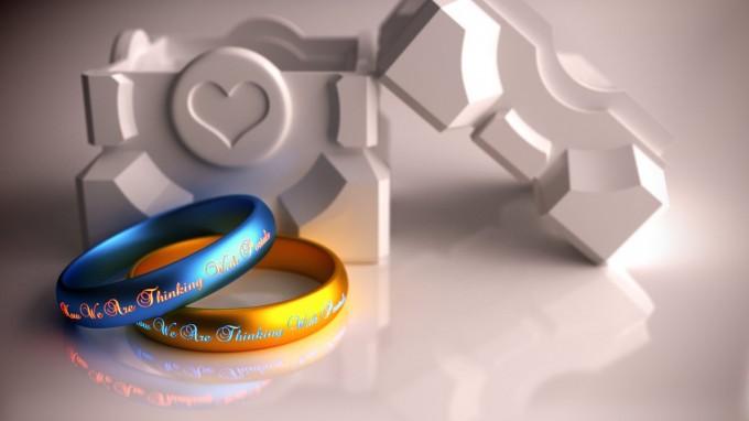 geeky wedding rings photos - Gamer Wedding Rings