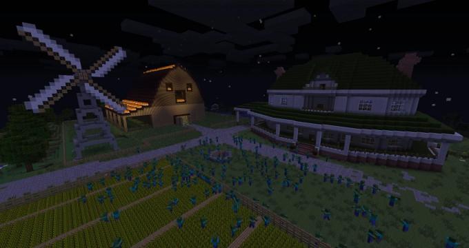 the walking dead minecraft creation farm twTK2gly