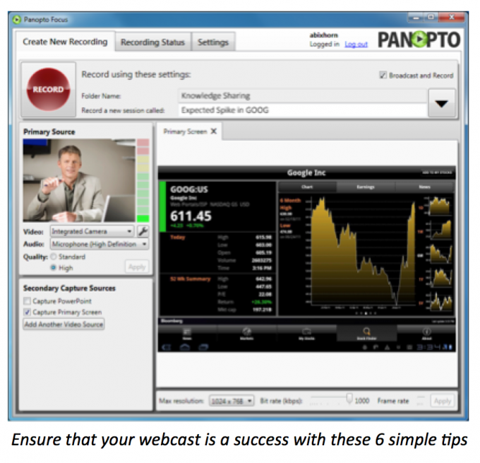 tips-for-a-successful-webcast-panopto-live-webcasting-platform
