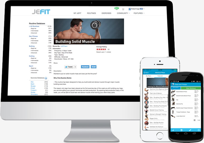 computer-phone-landing-workout-personal-trainer-app
