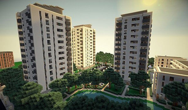 Gallery For Minecraft Apartment Building Blueprint